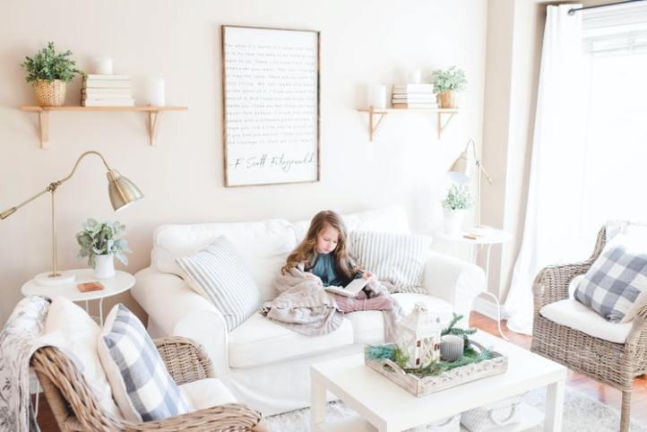lendo em casa